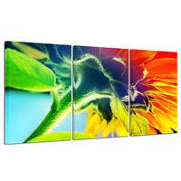 Canvas Print Wall Art Painting For Home Decor Bright Sunflower Yellow Sunshine 3 Pieces Panel Picture