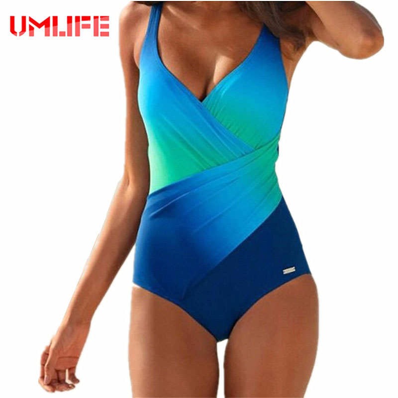 UMLIFE One Piece Swimsuit 2017 New Swimwear Women Plus Size Bathing Suit Sexy Bodysuit Vintage Summer Beachwear Swimwear Female 2017 new sexy one piece swimsuit strappy biquini high waist one piece swimwear women bodysuit plus size bathing suits monokinis
