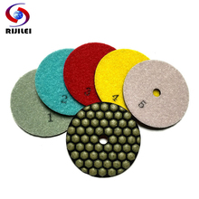 Free shipping! 3GM Wholesale 3inch/80mm Dry Polishing Pads/granite and marble or Honeycomb Flexible polishing pads+5Pcs/Lot