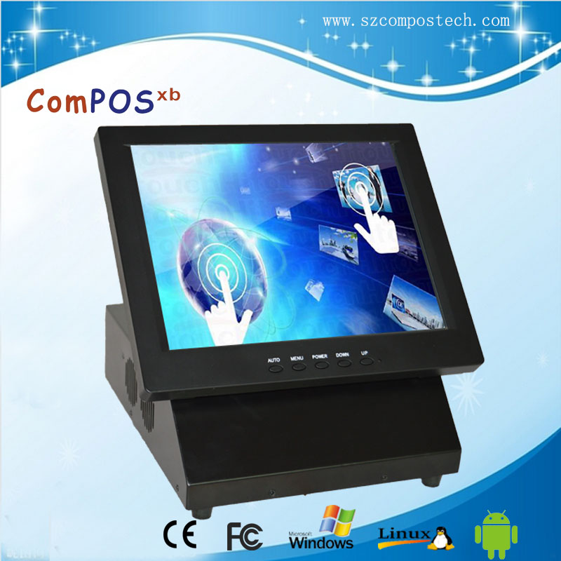 Free Shipping All In One POS System 12 Inch Touch Screen Resturant Price Cash Register For supermarkets free shipping for htc made one gg0047111fp1 v02 touch screen 10pcs lower prices
