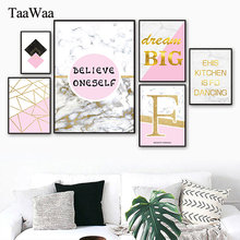 TAAWAA Scandinavian Rose Flower Minimalist Quotes Art Poster Canvas Painting Nordic Wall Picture for Living Room Home Decoration