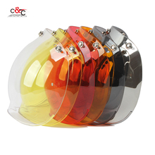 free shipping 6 color available 3/4 open face vintage helmet transparent bubble shield  visor lens black transparent