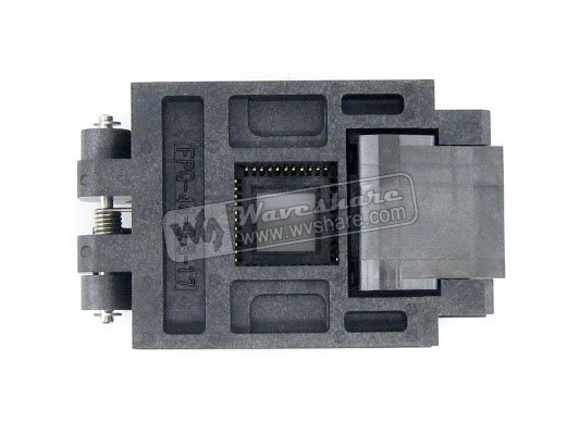 Modules QFP44 TQFP44 FQFP44 PQFP44 FPQ-44-0.8-17 Enplas IC Test Burn-in Socket Programming Adapter 0.8mm Pitch 44%