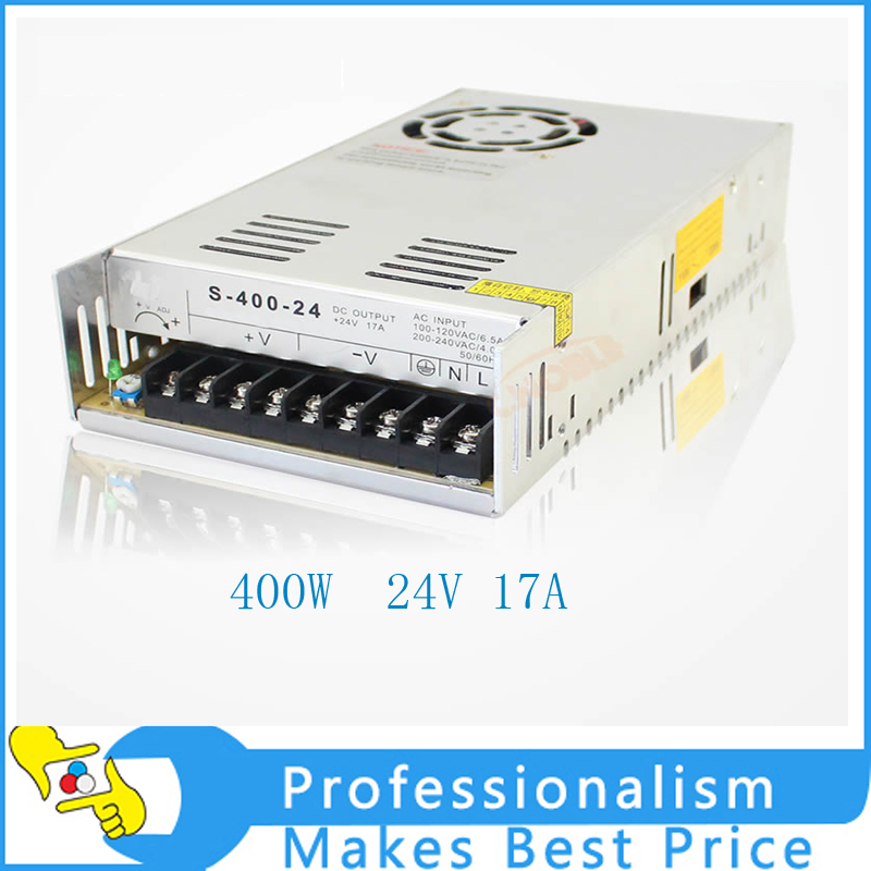 New 24V 17A 400W Switching Power Supply Driver for LED Strip AC 100-240V Input to DC 24V dc power supply 36v 9 7a 350w led driver transformer 110v 240v ac to dc36v power adapter for strip lamp cnc cctv