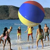 1PC PVC Inflatable Beach Ball Multicolored Children Bath Toy Ball Kid Summer Beach Shower Swimming Toys