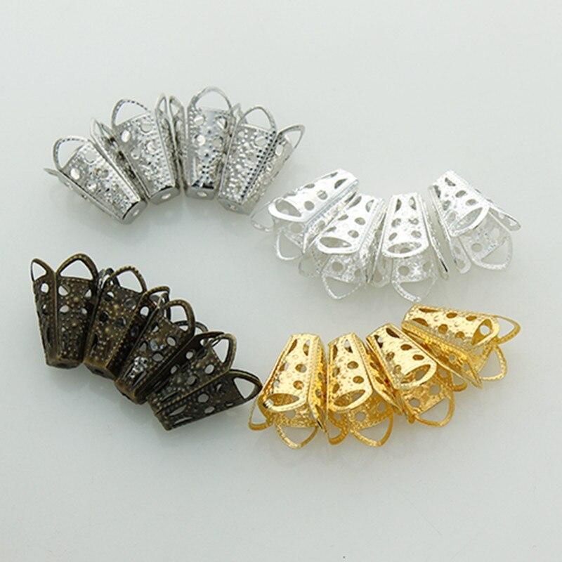 50 шт. 10×16 мм трубы прокладки шарики застежки на концах для изготовления ювелирных изделий Diy ожерелье кисточки серьги аксессуары Z633