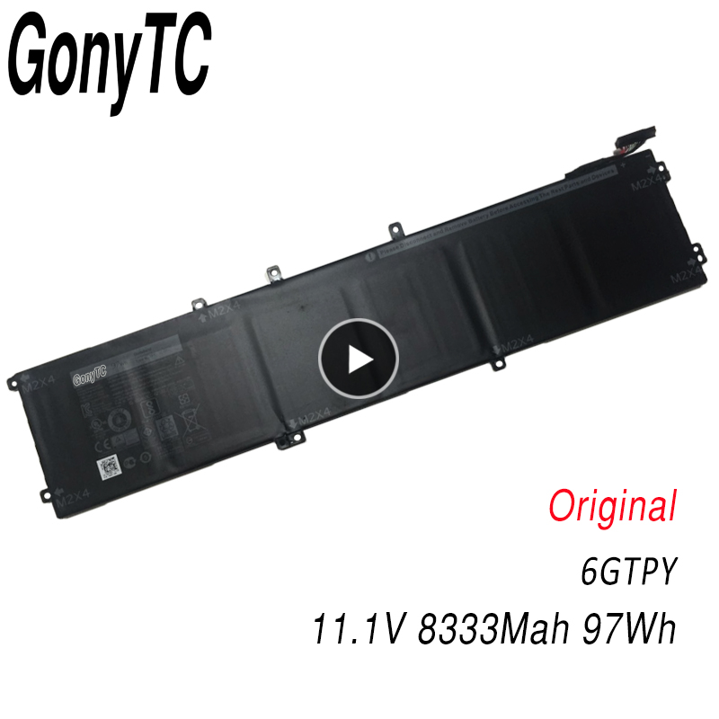 11.1V 97Wh 6GTPY New Original 6GTPY Laptop Battery For <font><b>Dell</b></font> Precision 5510 m4700 <font><b>XPS</b></font> 15 <font><b>9550</b></font> 9560 9570 5XJ28 Genuine Batteries image