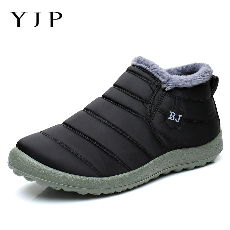 YJP Snow Boots Women Shoes Waterproof Oxford Cloth Big Size Warm Short Plush Autumn Winter Ankle Boots For Women Slip On Botas 0 01 999 second 8 terminals digital timer programmable time relay