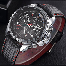 Megir Men Watch Luxury Brand Sport Fashion Quartz Watch Genuine Leather Band Dynamic Special Design Relogio