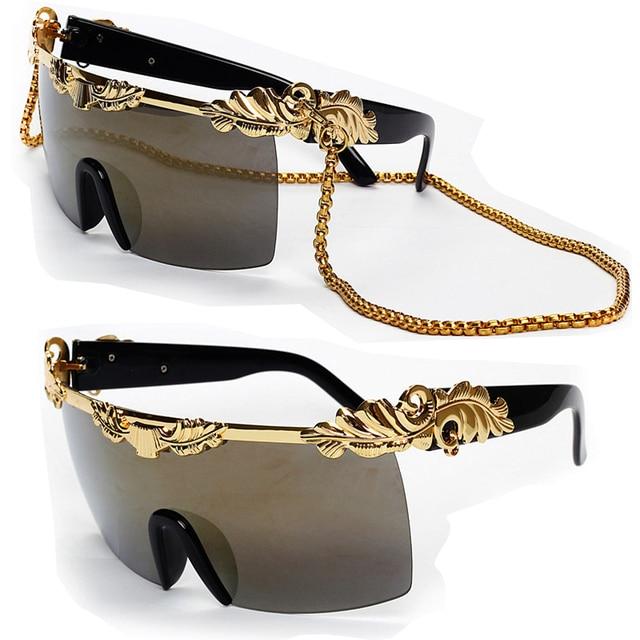 Marca 2015 moda Anna Dello Russo exageradas gafas de sol cadena de ...