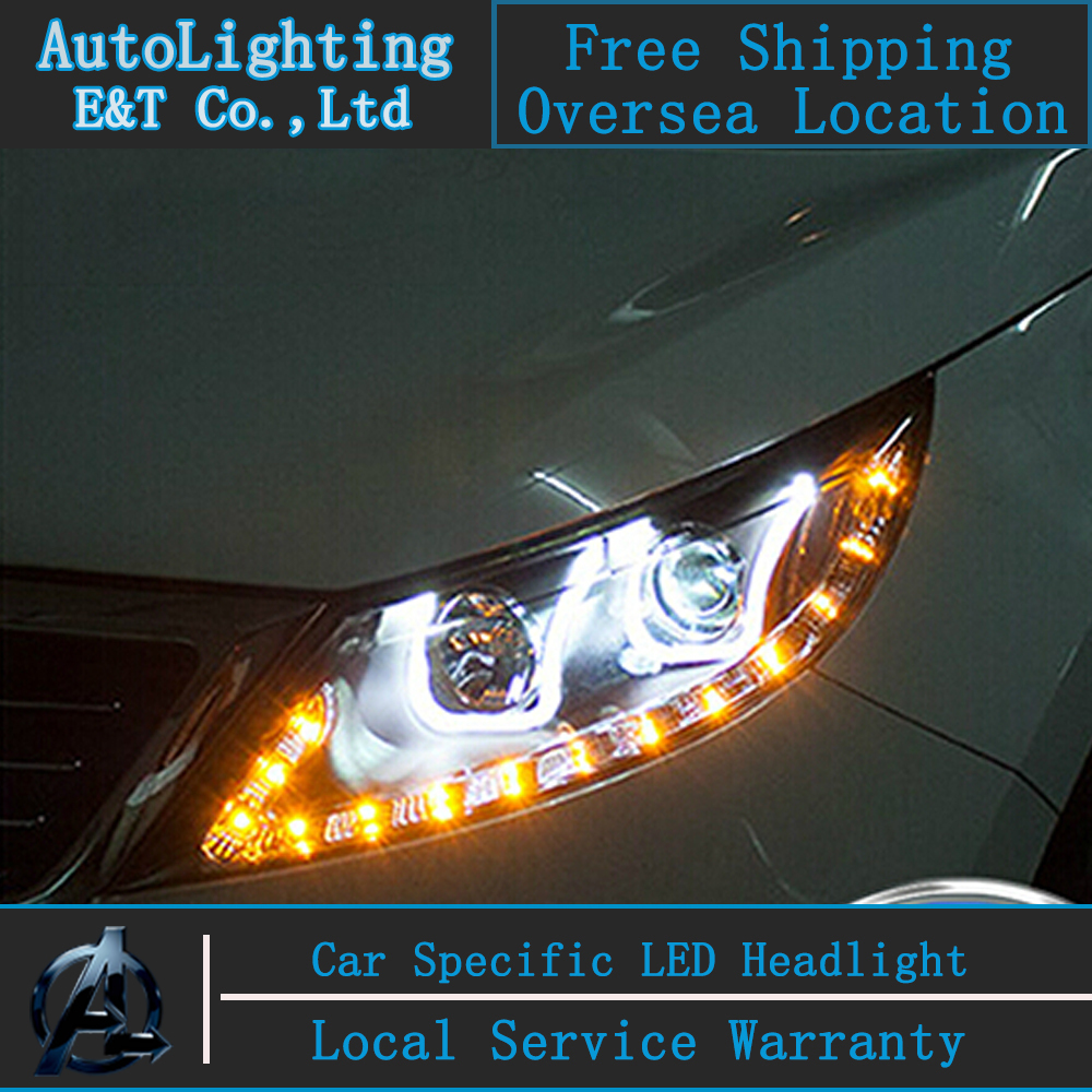 Car Styling For KIA SportageR headlight assembly 2011-2014 Sportage led headlight sportageR drl headlight H7 with hid kit 2 pcs.