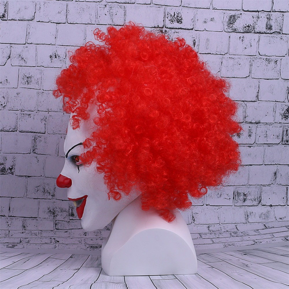 Movie Stephen King's It Mask Pennywise Mask Cosplay Masks Red Hair Clown Joker Halloween (5)