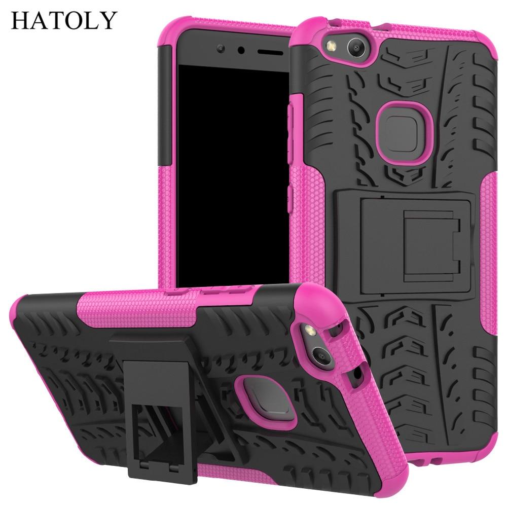 Qapaq üçün Huawei P10 Lite Case Anti-knock Ağır Dəstəkli - Cib telefonu aksesuarları və hissələri - Fotoqrafiya 5