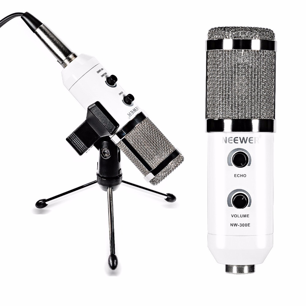 Neewer NW 300E USB Condenser Microphone Butterfly Clip