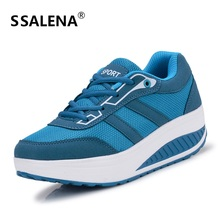 2018 Women's Fitness Sneakers Platform Toning Wedge Toning Shoes Light Weight Workout Sports Shoes For Women Slimming #B2118