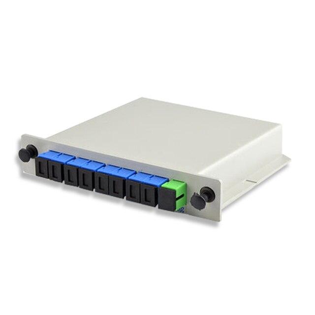ZHWCOMM 10 stücke SC UPC 1X8 Faser Ftth Splitter Box Einfügen blatt Optische Koppler SC Singlemode simplex plc optische splitter