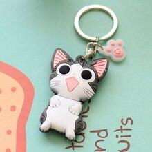 Kawaii резиновая подвеска ключ бумажник, кот Чи 4 см ок. Ключей бумажник, резиновые Ключи Подвеска с защитным кожухом крючок на кошелек