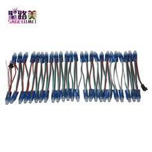 1000pcs 12mm WS2811 מלא צבע LED פיקסל אור מודול DC 5V קלט IP68 עמיד למים RGB צבע 2811 IC דיגיטלי LED חג המולד אור