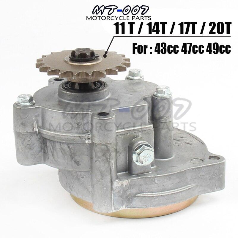 17 т 43cc 47cc 49cc двигатель редуктор коробки передач 2 тактный T8F для мини ATV Карманный велосипед Скутер гомед