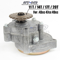17T 43cc 47cc 49cc Engine Gear Reduction Transmission Box 2 STROKE T8F For Mini ATV Pocket Bike Scooter Goped