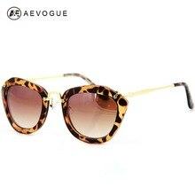 Aevogue marca diseño gafas de sol mujer gafas de sol más populares de moda de lujo de gran tamaño del marco gafas de sol uv400 ae0073