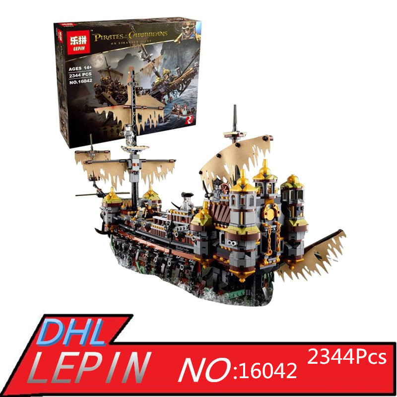 LEPIN 16042 2344Pcs Compatible Pirate of The Caribbean Mary Speed Set Children Building Blocks Bricks Children Toys 71042 Slien lepin 16042 pirates of the caribbean ship series the slient mary set children building blocks bricks toys model gift 71042