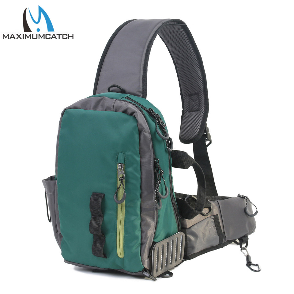 Maximumcatch Multi-Purpose Fly Fishing Pack Light Sling Shoulder Bag Fishing Sling Bag maximumcatch fishing sling back pack outdoorsport fly fishing sling bag with fly patch