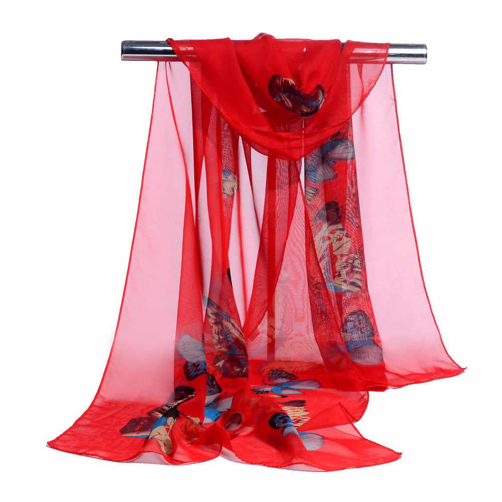 女性のスカーフファッション女性ロングソフトラップスカーフ女性ショールシフォンスカーフ新春新人デザイナーエレガントな Scarve * 20