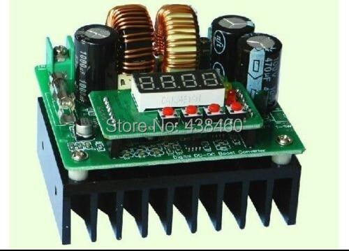Digital Led 400W 10A DC Step-up constant voltage current boost Converter 8V-80V цена