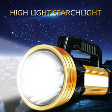 160W Handheld Spotlight  Portable USB Built-in 6000mah Rechargeable LED Searchlight Lantern Flashlight Waterproof Spot lamp
