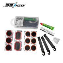 SAHOO Bike Bicycle Cycling Flat Tire Repair Kit Tool Set Kit Patch Rubber Portable Fetal drop shipping
