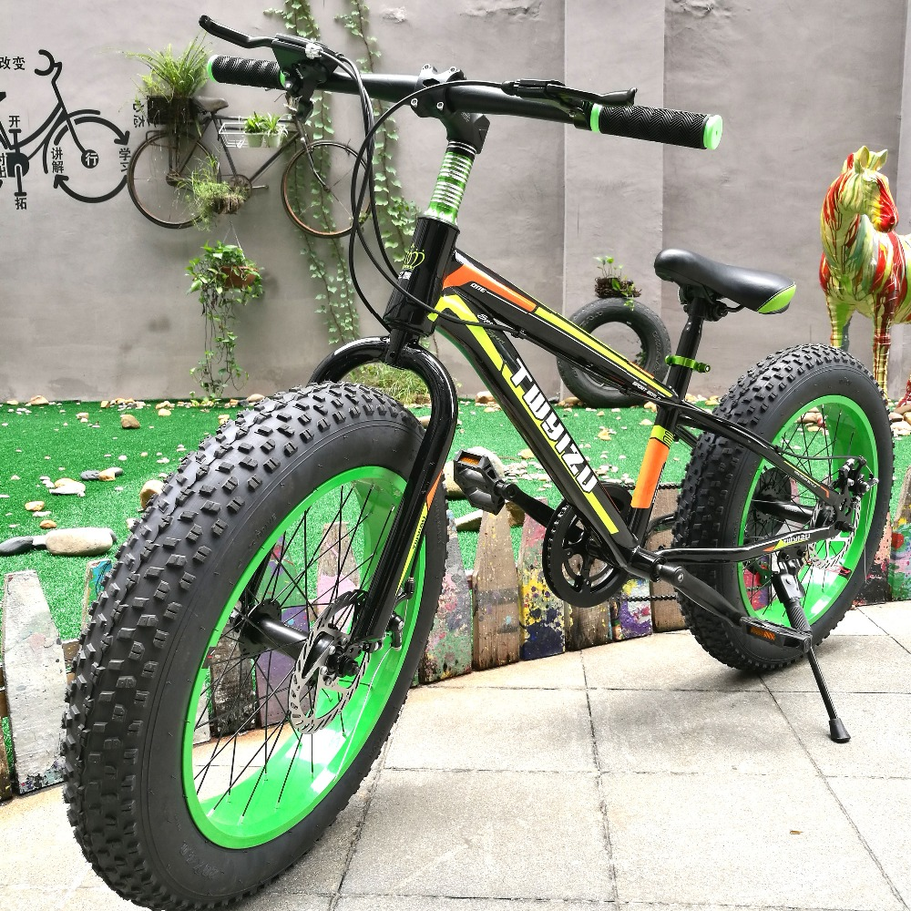 High carbon steel Big Fat Tyre Snow Bike Double Disc Brake