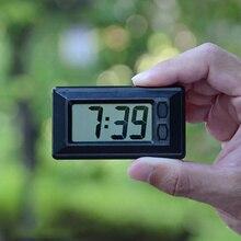 1 шт. автомобильные часы электронные часы Приборная панель автомобиля ЖК-экран большие цифровые часы время самоклеющиеся кронштейн автомобильные аксессуары
