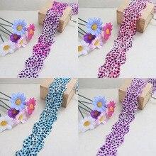 Leopard point elastic stretch Lace trim 34mm width DIY headband craft sewing/garment/clothes accessories
