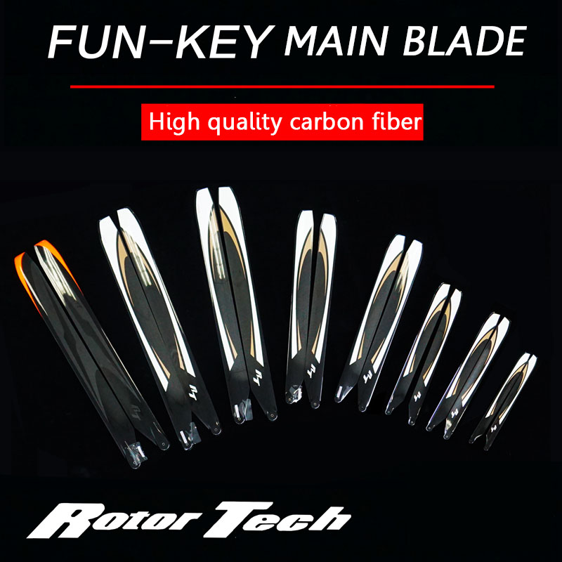 RT RC Helicopter Parts Carbon Fiber Main Blades 280mm 360mm 380mm 480mm 510mm 560mm 690mm 620mm