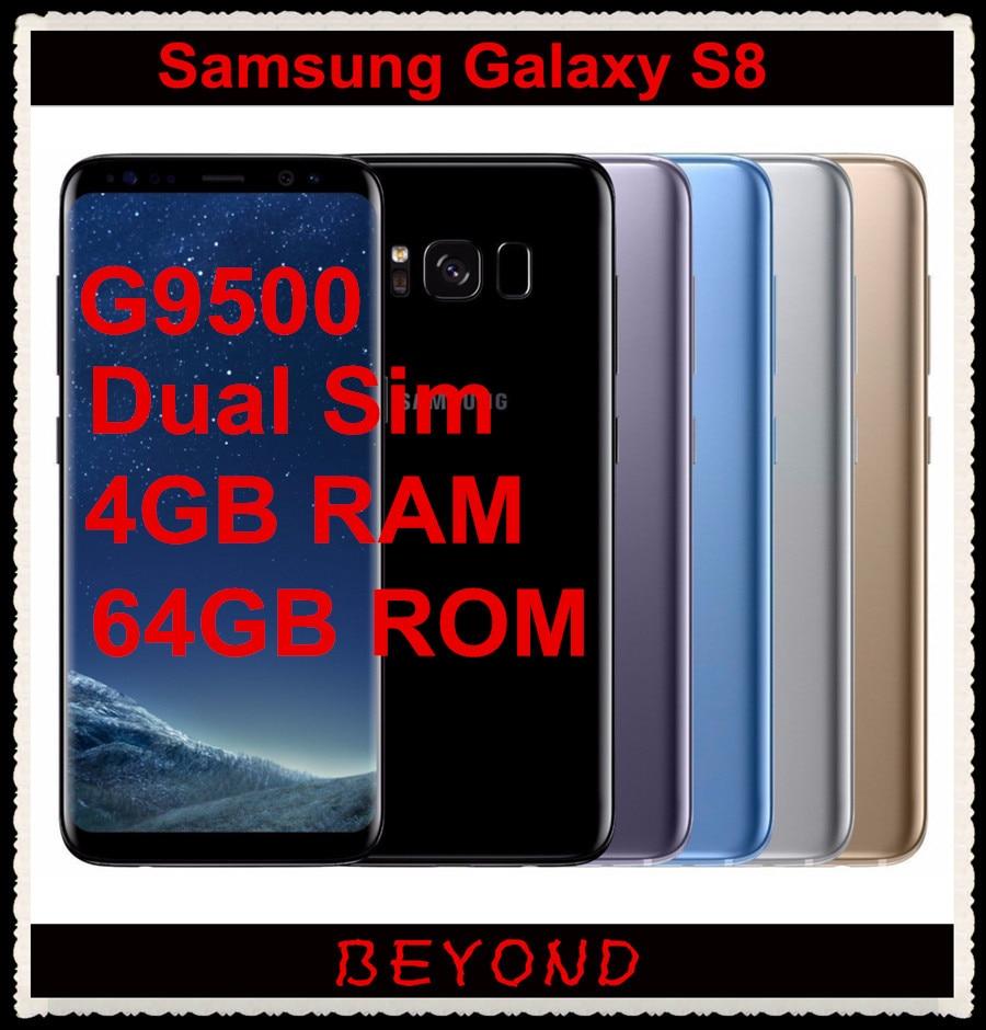 """bilder für Samsung Galaxy S8 ZOLL-G9500 Dual Sim Ursprünglicher Freigesetzter 4G LTE Android Handy Octa Core 5,8 """"12MP RAM 4 GB ROM 64 GB 3000 mAh"""