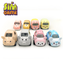 SIMCASTLE Original 8 Styles Colourful Cartoon Car 1:43 Diecast Metal Model Cars Toys for Children Alloy Mini Toy Birthday Gifts