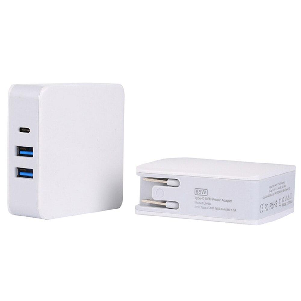65 W Charge Rapide 3.0 PD Double USB + Type C Chargeur De Voiture Voyage Universal Mobile Téléphone Chargeur Adaptateur pour iPhone Sony Samsung ordinateur portable