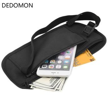 Cloth Waist Bags Travel Pouch Hidden Wallet Passport Money Waist Belt Bag Slim Secret Security Useful Travel Bags Chest Packs