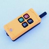 1pcs HS 4 AC 110V 4 Channels Control Hoist Crane Radio Remote Control Sysem Industrial Remote
