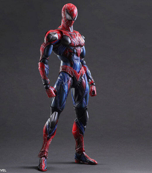Anime Doll Superher PlayArts Kai Spiderman The Amazing Spider man PVC Action Figure Model Toy 28cm T3045  free shipping 6 spider man the amazing spiderman boxed 15cm pvc action figure collection model doll toy gift figma 199