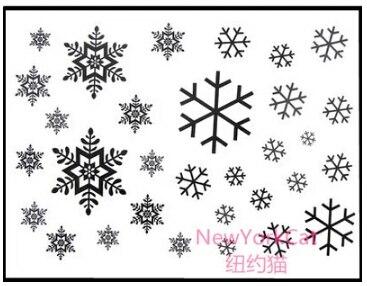 Us 805 3sheets15x10cm Boże Narodzenie Płatki śniegu Naklejka Tatuaż Brinquedos Dla Dzieci Nowy Rok Prezent W Tymczasowe Tatuaże Od Uroda I Zdrowie