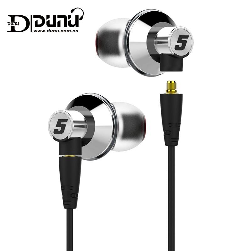 DUNU TITAN5 HiFi Inner-ear Earphone Rich Bass Large dynamic acoustic performance interchangeable cable jack IEM TITAN 5 TITAN-5 dunu titan 3