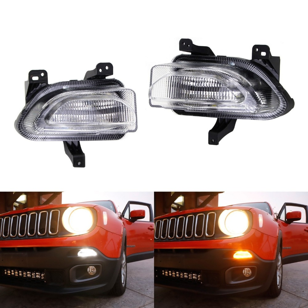 led turn signal led daytime running light drl for jeep renegade 2015 2018 day light
