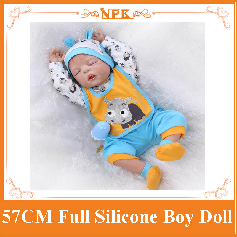 NPK New Full Silicone Reborn Bebe Babies Dolls Real Play House Reborn Boy Babies Kids Child Brithday New Year Gifts Brinquedos full house