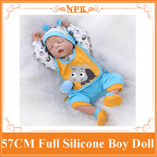 NPK New Full Silicone Reborn Bebe Babies Dolls Real Play House Reborn Boy Babies Kids Child Brithday New Year Gifts Brinquedos