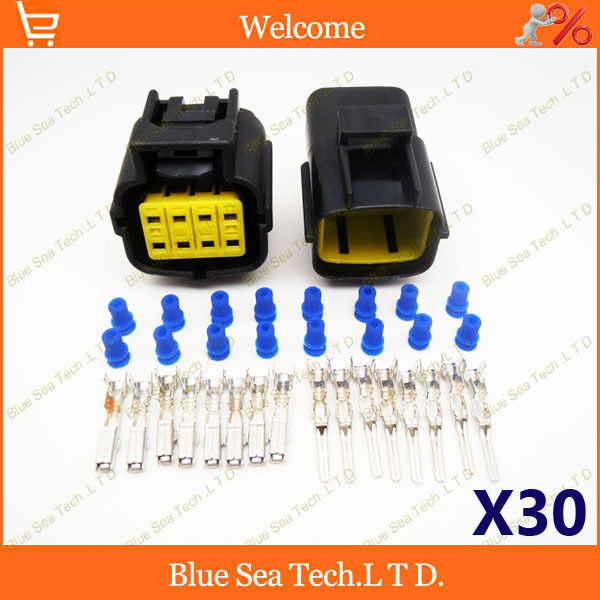 sets pin engine oxygen sensor wiring harness plug car 30 sets 8 pin engine oxygen sensor wiring harness plug car waterproof electrical connector for