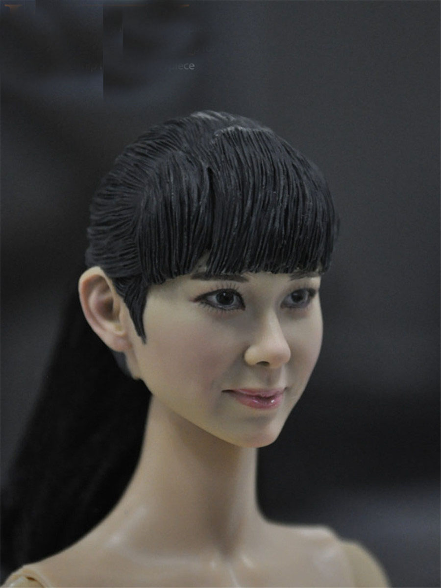 Mnotht 1/6 Korean Female Head Carving Beauty Girl Female Solider Carved Head For 12in Figures l25 mnotht 1 6 female solider head model batman catwoman head carved cgt for 12in figures l25