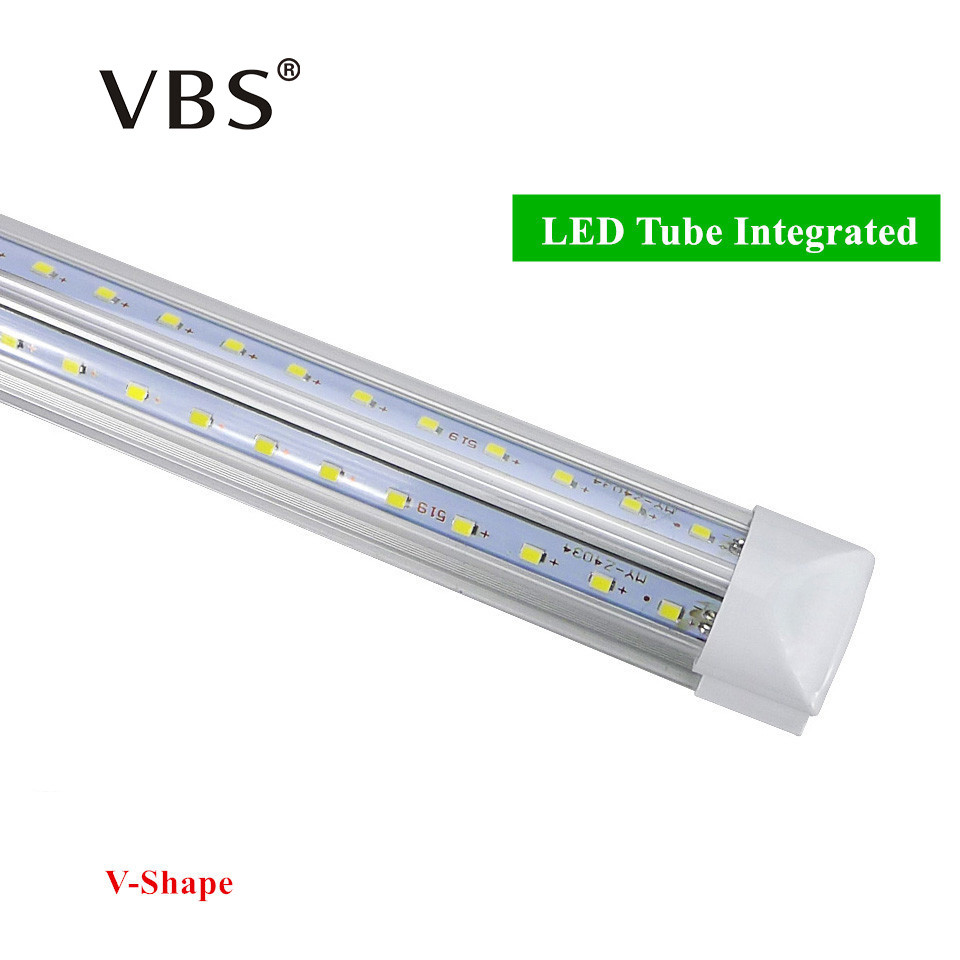 V-Shape Integrated LED Bulbs Tubes T8 570mm 20W 2 FT Led Tube Light 2Feet AC85-265V 96LEDs SMD2835 LED Light Super Bright 2000lm