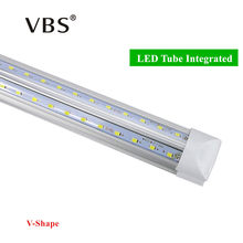 V-Shape Integrated LED Bulbs Tubes T8 570mm 20W 2 FT Led Tube Light 2Feet AC85-265V 96LEDs SMD2835 LED Light Super Bright 2000lm(China)